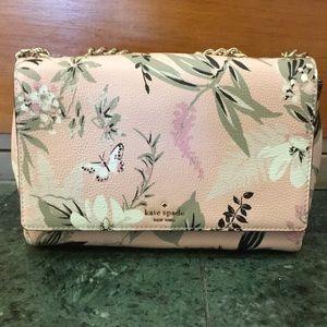 NWT Kate Spade ♠️ Emelyn pink botanical purse